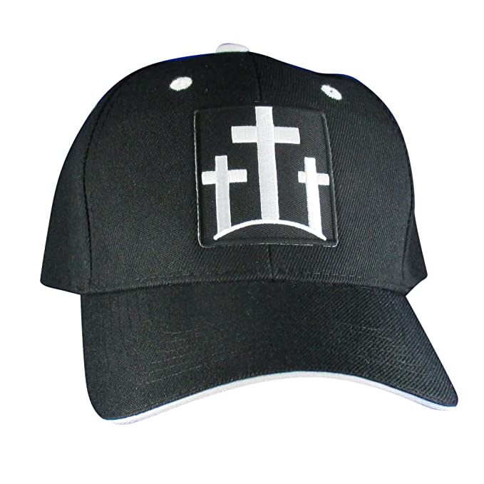 1a5a2622188 Image Unavailable. Image not available for. Color  AffinityAddOns Three  Crosses Christian Hat - Embroidered Patch Baseball Cap