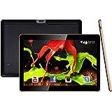 10.1 pouces Tablette PC pour PC Android 5.1 Lollipop 3G Dual SIM écran IPS 1280x800 Smartphone déverrouillé Tablettes PC 1 Go, mémoire 16 Go, Wi-Fi Quad Core Ordinateur, 2MP avant et 5MP caméra arrière Batterie 5000 mAh Blanc (10.1 Noir)