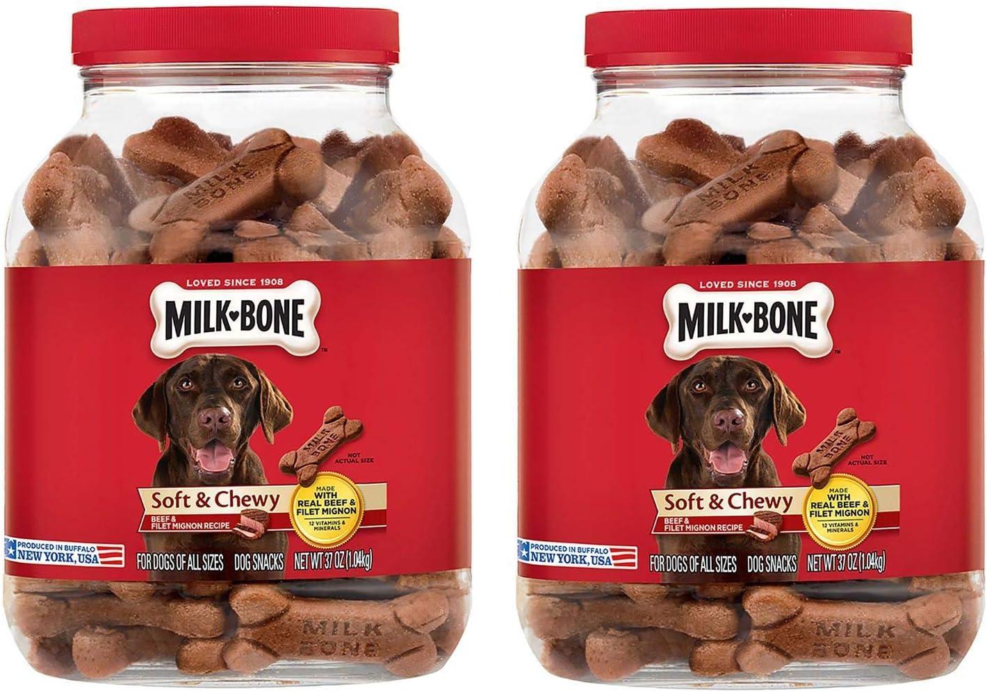 Milk-Bone Soft & Chewy Beef & Filet Mignon Recipe Dog Snacks (37 oz.)