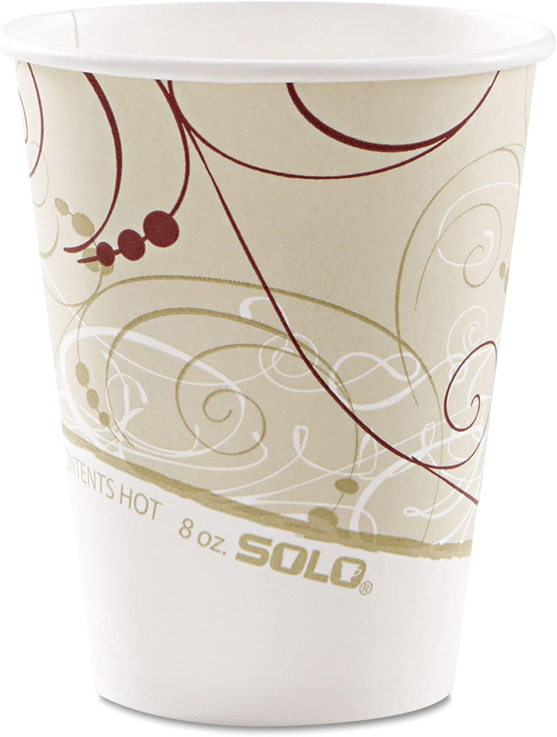Solo Foodservice Solo 378SM-J8000 Single-Sided Poly Coated Paper Hot Cup, 8 oz Capacity, Symphony (Case of 1,000) 71d0kU2WrcLSL1500_