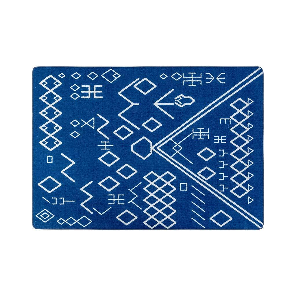 CHENGYI カーペット ナイロンサファイアブルージオメトリックモロッコリビングルームカーペットナチュラルベッドルームベッドサイドブランケットソフトソファコーヒーテーブルノンスリップマットマット厚さ6mm (Size : 1.2*1.7m) B07T1P5ZZ9  1.2*1.7m