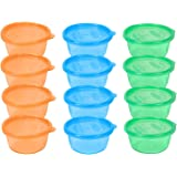The First Years 12 Pack Take & Toss Bowls with Lids, 8 Ounce, Colors May Vary