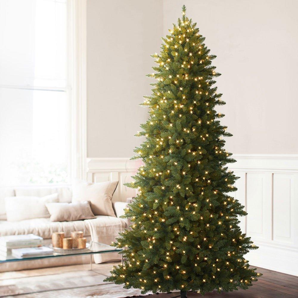 Balsam Hill Berkshire Mountain Fir Prelit Artificial Christmas Tree, 9 Feet, Clear Lights