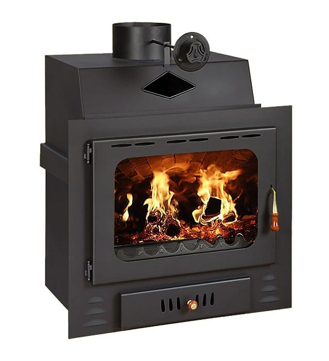 Chimenea - INSERT Multi combustible construido en madera estufa de leña 16 kW Prity G: Amazon.es: Bricolaje y herramientas