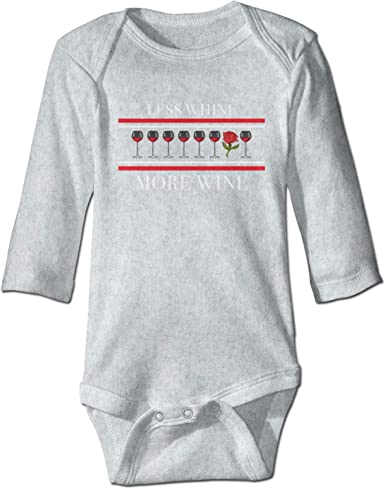 Less Whine More Wine Science Baby Crawler Soft Baby ...