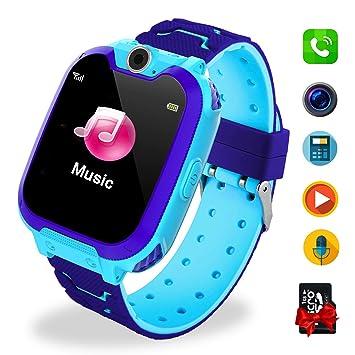 Smartwatch Niños Telefono Estudiante, Lata Realiza Llamadas Mensajes Mp3 Musica Reloj Infantil Reloj Digital Reloj Despertador Juegos Reloj ...