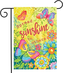 "Briarwood Lane Spread Sunshine to Others Spring Garden Flag Floral Inspirational 12.5"" x 18"""