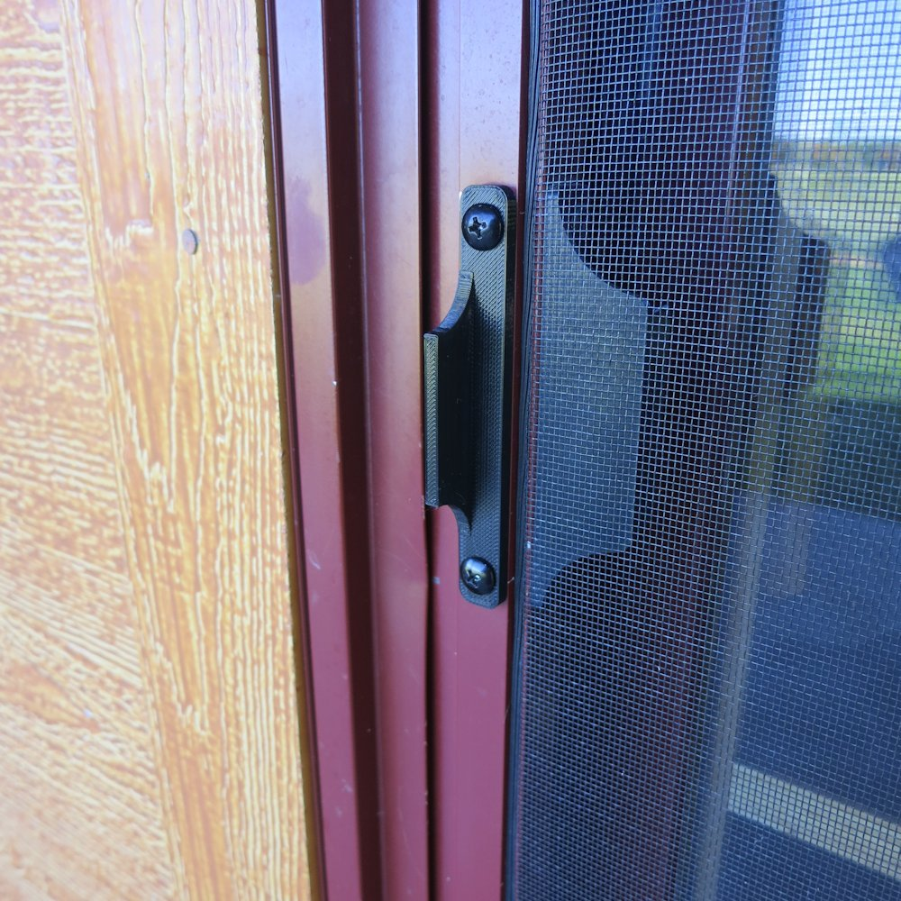 black) sliding screen door pull handle replacement - 3 1/2 (3.5 ...