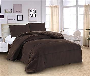 ForenTex   Edredón nórdico de 600 g, (L 3071), Marrón, para cama