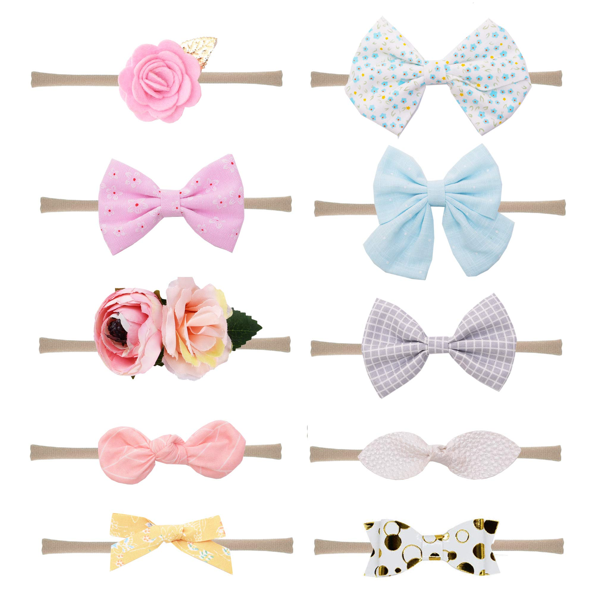 Girl's Accessories Strong-Willed Korea Fabric Tie Knot Hair Bands Rabbit Ears Hairband Flower Crown Headbands For Girls Hair Bows Hair Accessories D