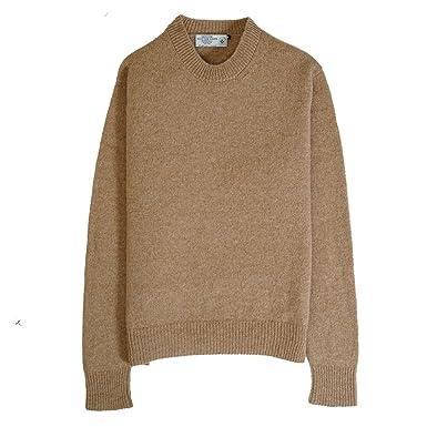 comprare popolare cf078 fd742 Genuine Scottish Knitwear, maglione in lana delle Isole Shetland,  girocollo, in 10 colori