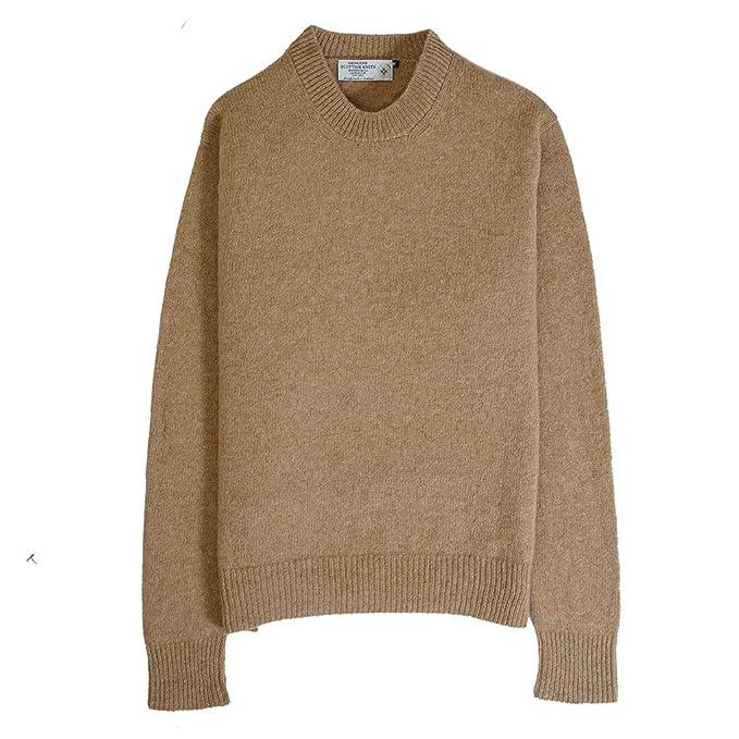 2acdca5a6829b9 Genuine Scottish Knitwear, maglione in lana delle Isole Shetland, girocollo,  in 10 colori ...