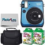 Fujifilm Instax Mini 70 - Blue Instant Film Camera With 2x Fujifilm Instax Mini Twin Pack Instant Film (40 Shots) + Compact Bag Case - International Version (No Warranty)