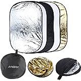 """Andoer® 24"""" * 36"""" 5 en 1 Portable plegable reflector de luz ligero de estucio de Fotografía para varias fotos 60 x 90 cm"""