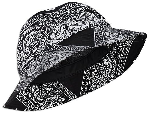 Amazon.com  Bandana Paisley Bucket Hat (Various Colors) Cotton ... 761ba9f33e4