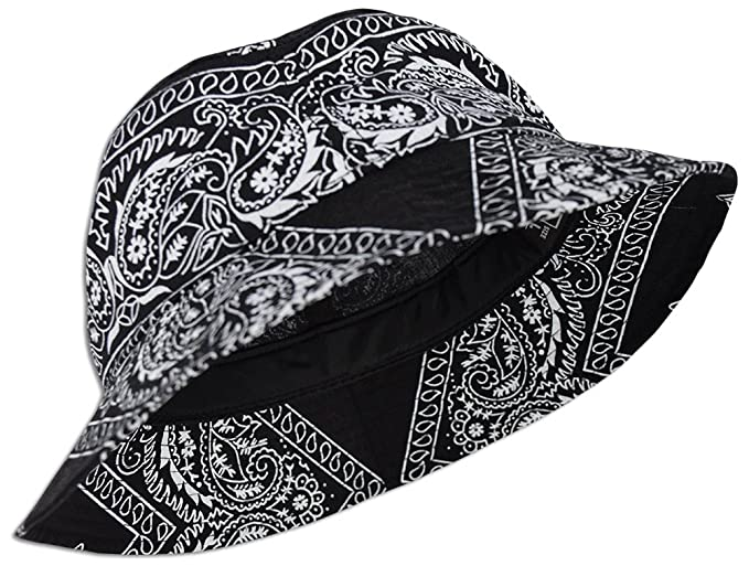 3cf51f80f04 Amazon.com  Bandana Paisley Bucket Hat (Various Colors) Cotton ...