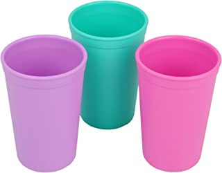 product image for Re-Play Made in the USA 3pk Drinking Cups for Baby and Toddler - Purple, Aqua, Bright Pink (Sparkle)