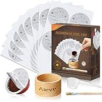 AIEVE Aluminum Foil Seals Kit for Nespresso Capsules VertuoLine with 80Pcs Aluminum Foil Seal Lid, Holder, Scoop, Brush…