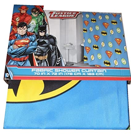 Image Unavailable Not Available For Color Justice League Fabric Shower Curtain