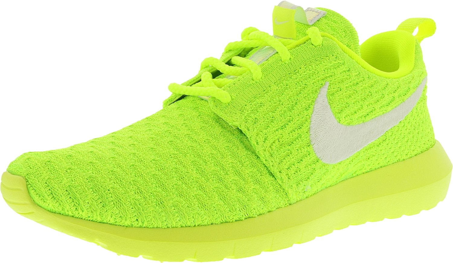 NIKE Womens Roshe One Flyknit Flyknit Colorblock Running Shoes B01LY2JKG5 7 M US|Volt/White-electric Green