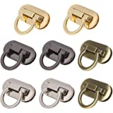 MISAZ Set of 8 Purse Twist Turn Locks, Ring Clasp Turn Lock Metal Hardware for DIY Handbag Shoulder Bag Closure Purse…
