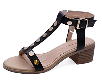 863ab79d7de Dolcis Ladies Clemence Black Block Heel Ankle Peep-Toe Sandals Strappy  Shoes Sizes 3-8  Amazon.co.uk  Shoes   Bags