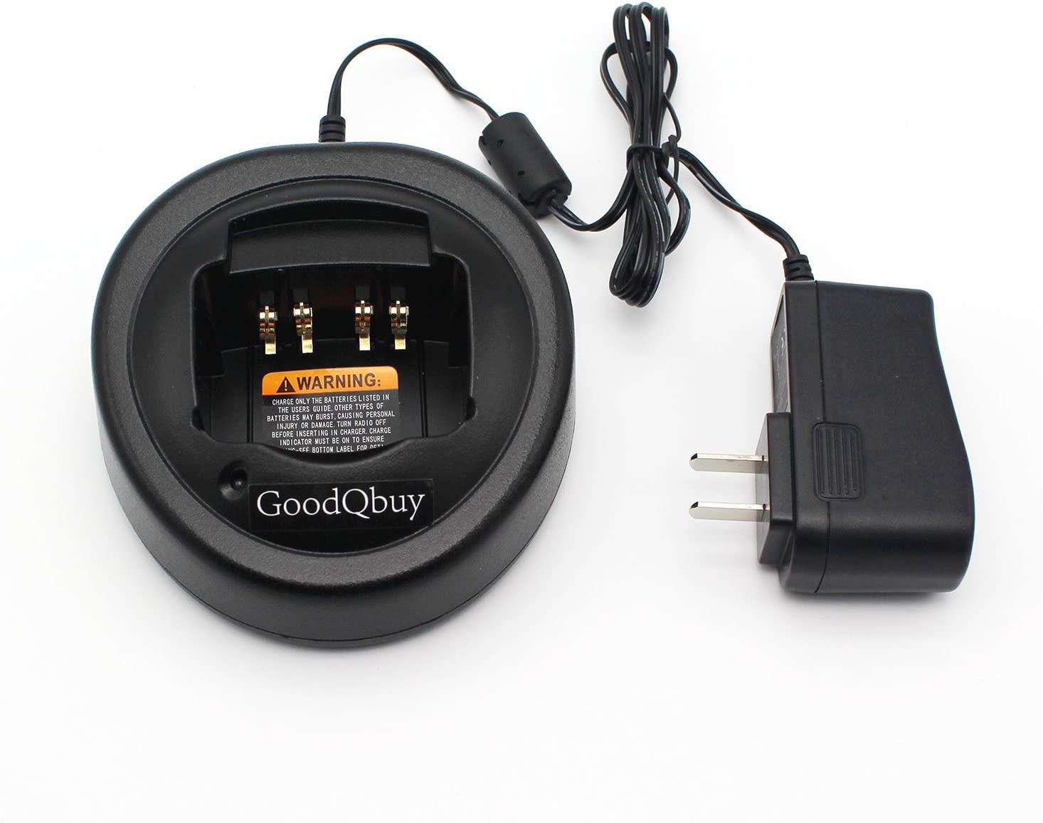 GoodQbuy Ni-MH Ni-CD Li-ion Battery Charging Dock Desktop Charger is Compatible with Motorola Radios EX500 GL2000 GP328 GP388 HT750 HT1250 MTX950 PRO5350 PTX760