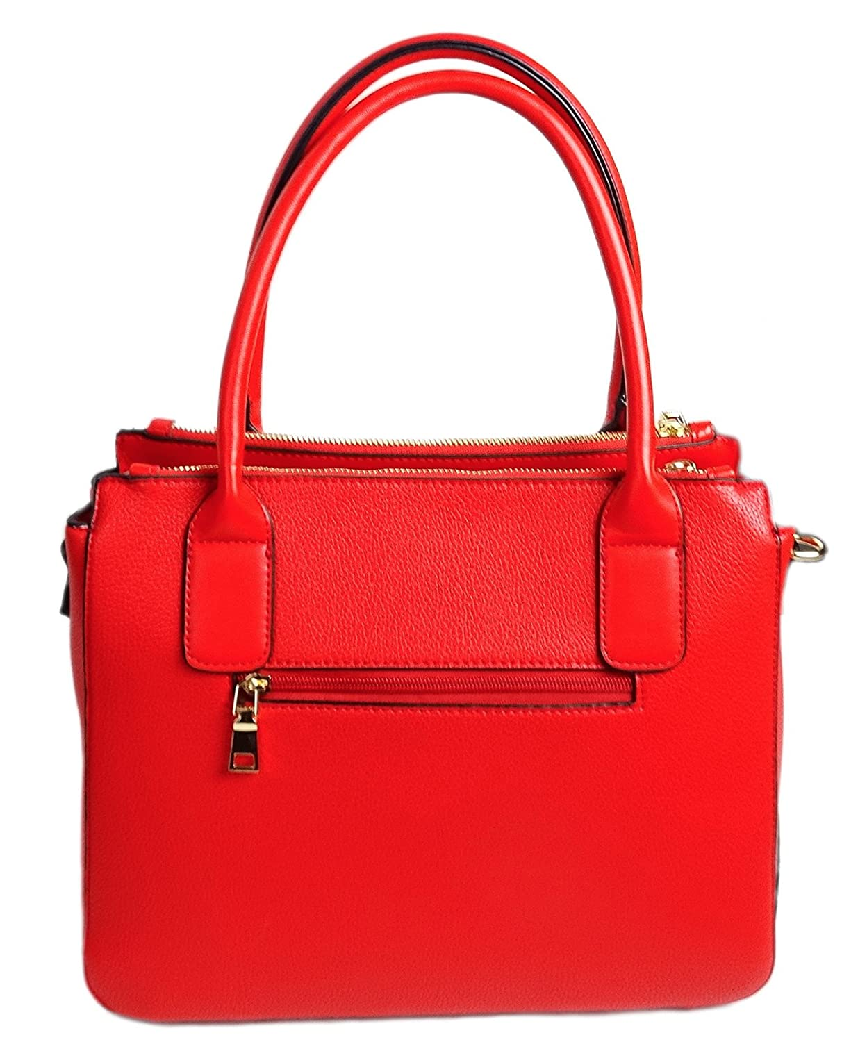 2bd459447feb La Terre Fashion Satchel PETA-Approved Vegan Pebbled Leather Rouge ...