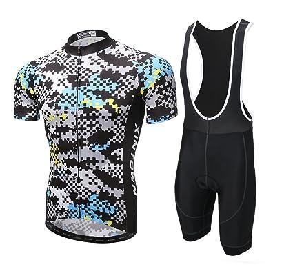 ed0469b90 Xintown Cycling Jersey Short Sleeve Men Biking Clothing Summer Man Bike  Shirts (Bib Suit