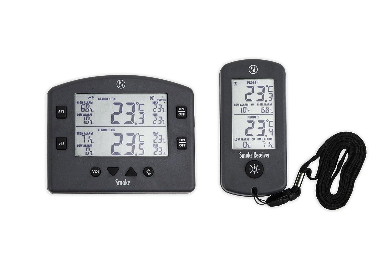 Compra Humo La 2 Canal inalámbrico alarma termómetro de cocina barbacoa en Amazon.es
