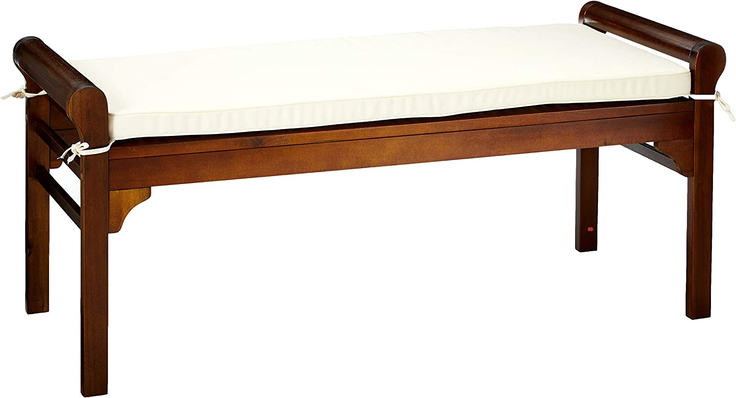 Christopher Knight Home Nelson Wood Bench With Cushion Rich Mahogany Table Benches