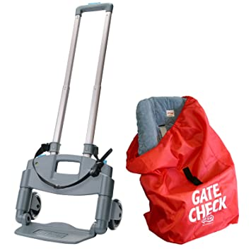 BRICA Roll N Go Car Seat Transporter With Gate Check Bag For Seats