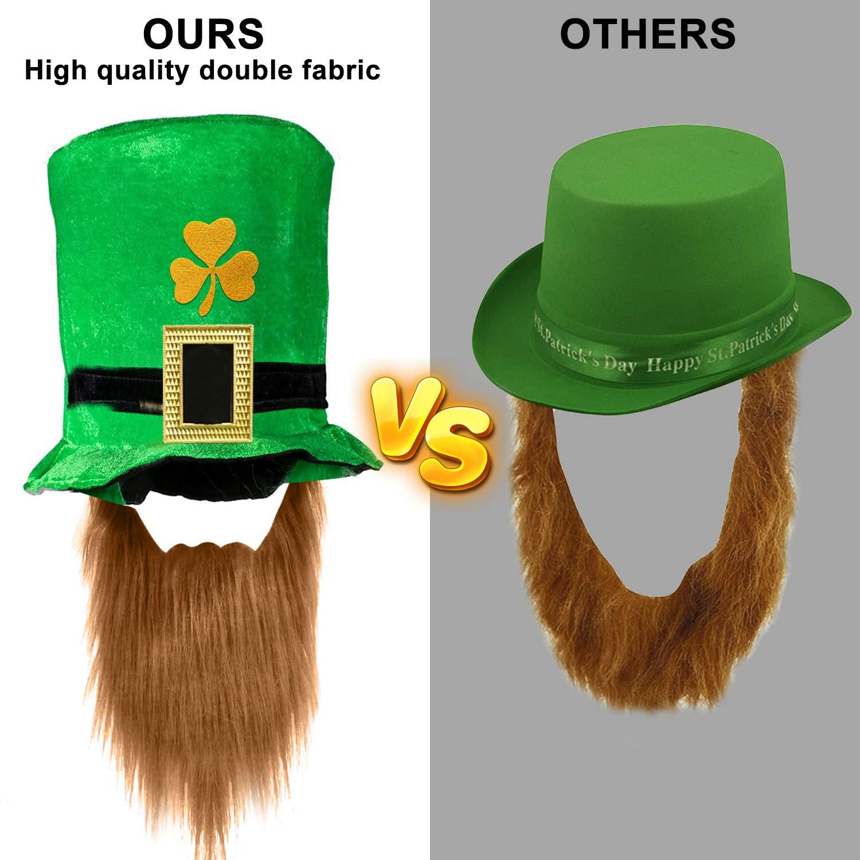 PATRICK/'S DAY NOVELTY Peluche Taille adulte. Irish Shamrock Chapeau Avec Boucle ST