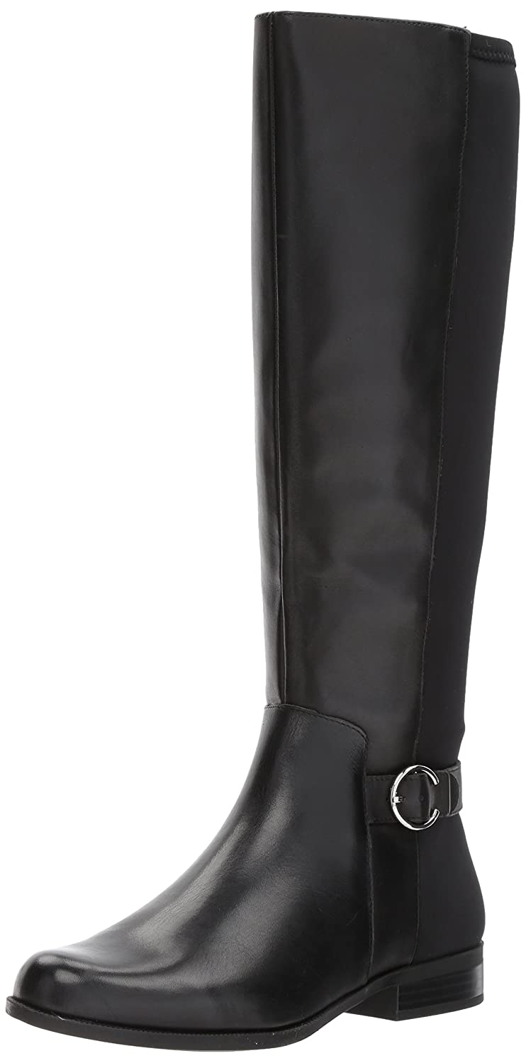 Nine West Women's Cominback B071L9ZTG4 Leather Knee High Boot B071L9ZTG4 Cominback 6 B(M) US|Black/Black Leather e2542c