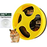 """Exotic Nutrition Silent Runner 9"""" - Wheel + Cage Attachment (NO Stand) - for Hamsters, Gerbils, Mice"""