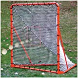 EZ Goal Official Regulation Folding Metal Lacrosse Goal with Throwback Kit - 6' x 6'