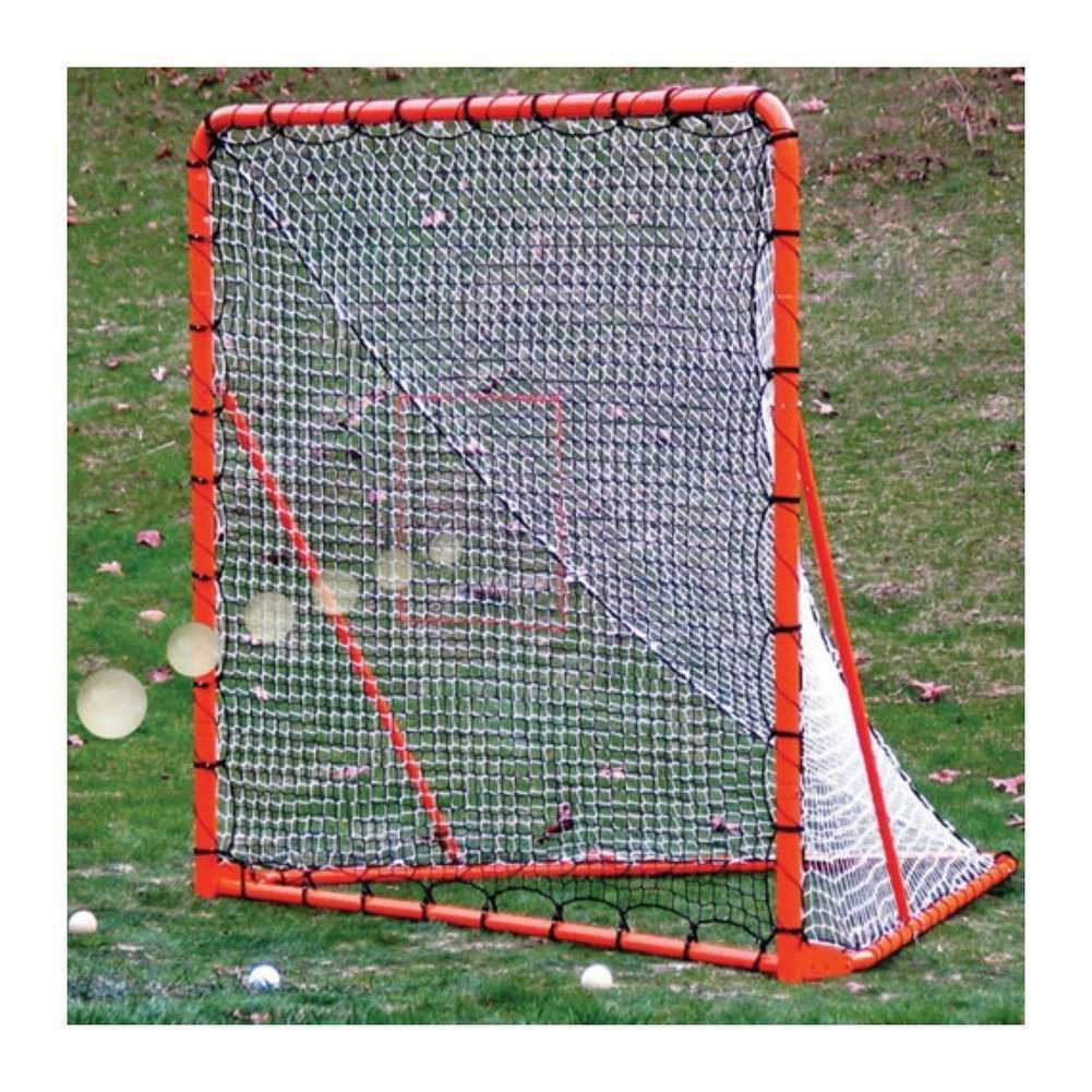 EZ Goal Official Regulation Folding Metal Lacrosse Goal With Throwback Kit    6u0027 X 6