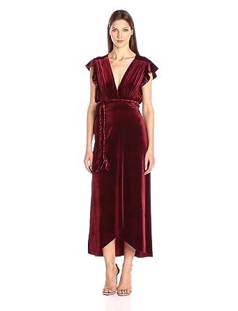 MISA Women's Carolina Dress, Wine, L