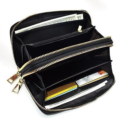 0114aaa022aa 長財布 レディース 本革 ダブルファスナー ラウンド 人気三つ折り財布 小銭入れ 大容量