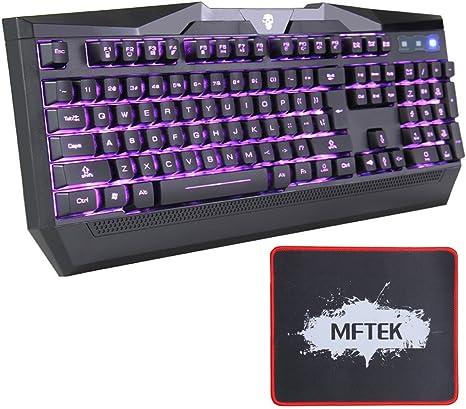 MFTEK USB LED Púrpura Azul Rojo Diseño ajustable Color Design ...