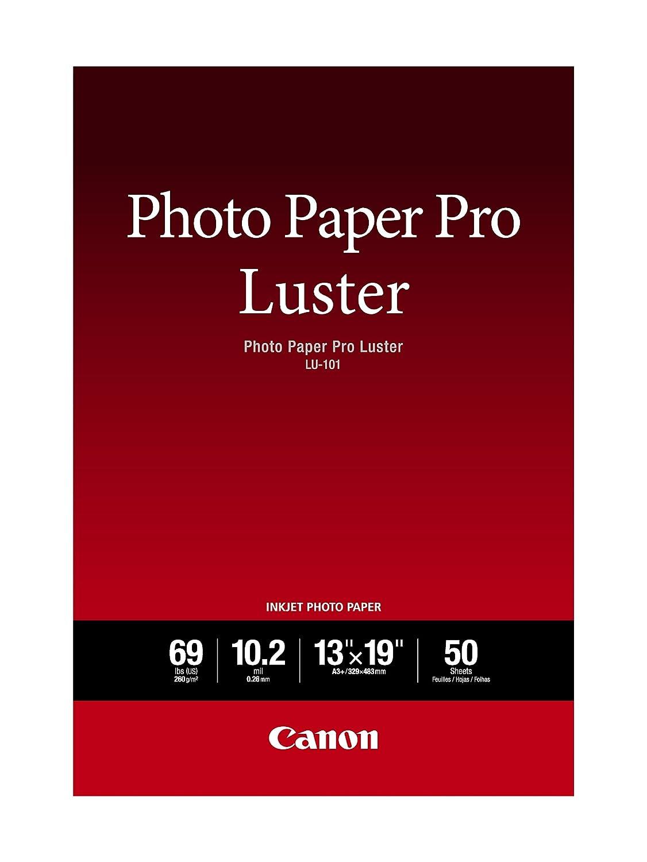 Amazoncom Canon Luster Photo Paper 13 X 19 50 Sheets Lu 101