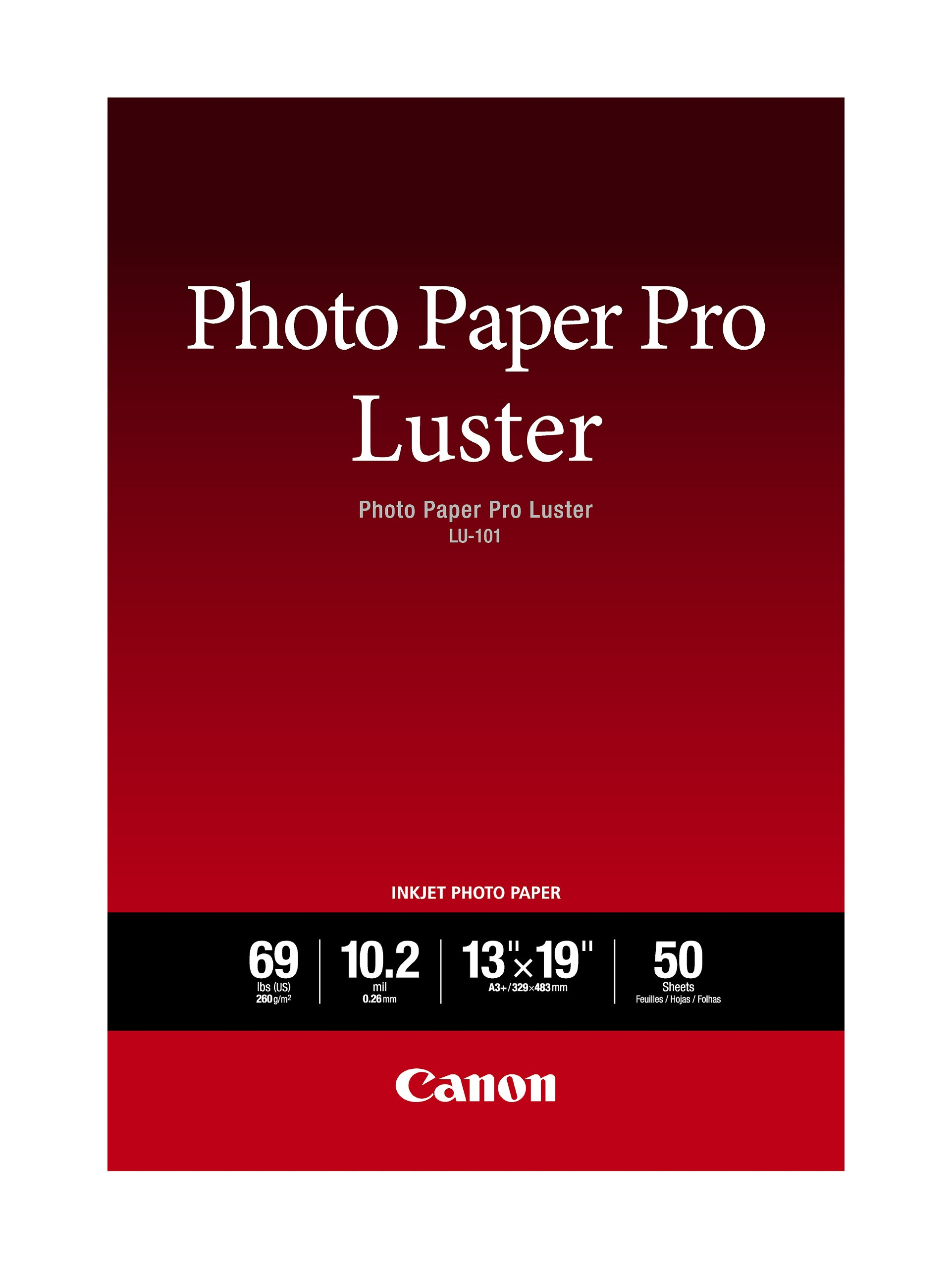 Canon Luster Photo Paper, 13'' x 19'' (50 Sheets) (LU-101 13X1950)