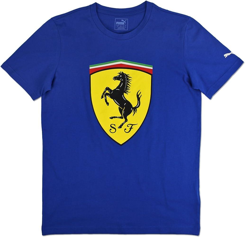 Puma Ferrari Big Escudo Camiseta de hombre Camiseta azul coche deportivo Fórmula 1 S-xl, tamaño: XXL ; Color: Azul: Amazon.es: Ropa y accesorios