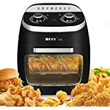 11L Air Fryer Automatic Oil Free Convection Airfryer 2000W, Low Fat Healthy Fast Deep Cooker for French Fries&Chips - Black