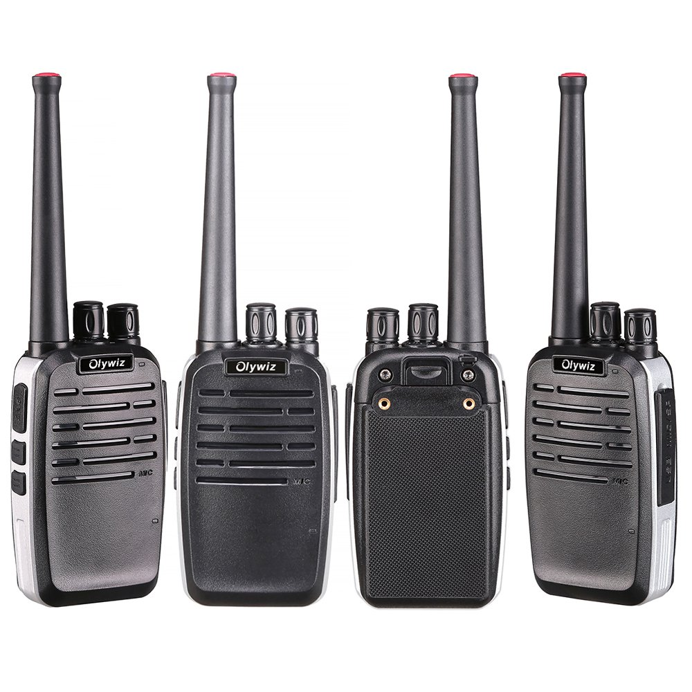 Walkie Talkies 2W Olywiz-819 Aluminum Body Tiny Walkie Talkies Handheld 16 Channels 1800 mAh Battery Two Way Radio 2 Pack