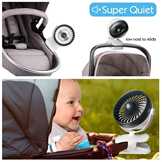 Houselog Clip On Stroller Fan Mosquito Repellent Essential Oil Diffused And Rechargeable Battery Operated Accessory For Urbini Uppababy Graco Britax