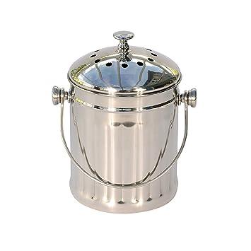 Mini Poubelle A Compost De Cuisine En Acier Inoxydable Avec