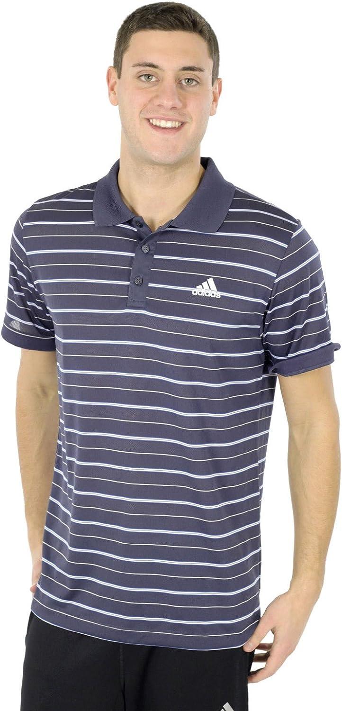 Urban Sky//blue Medium adidas Striped Tennis Polo