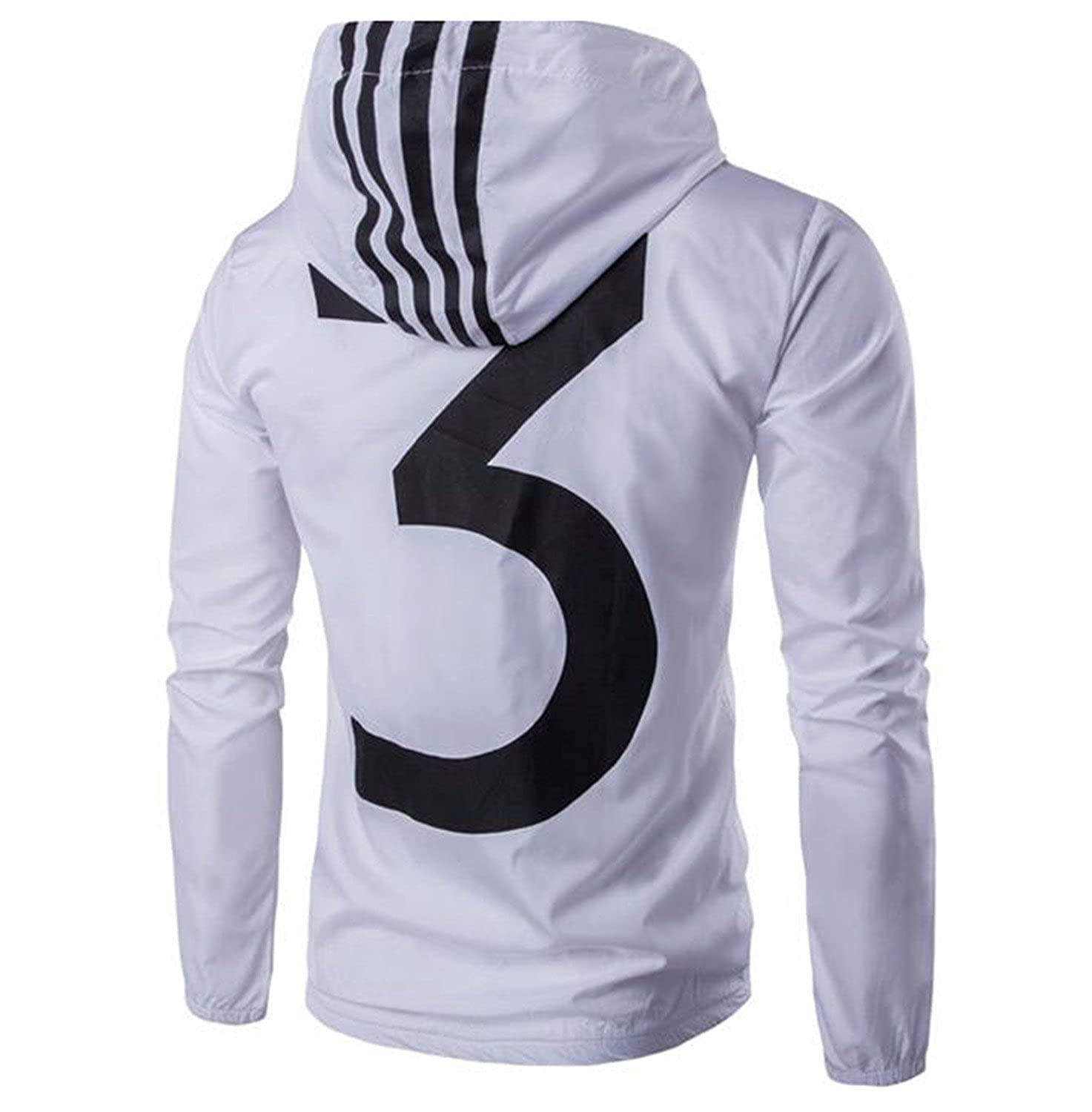 Marvin Cook Summer Spring Style Men Jacket Black White Color Y-3