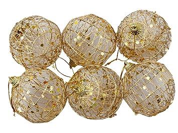 b1bc94563bb89 La vogue Bolas de Navidad Colgantes Adornos de Árbol de Fiesta Decoración  Dorado Diámetro 5cm